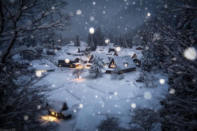 Снежная сказка: невероятно красивая зима в Японии