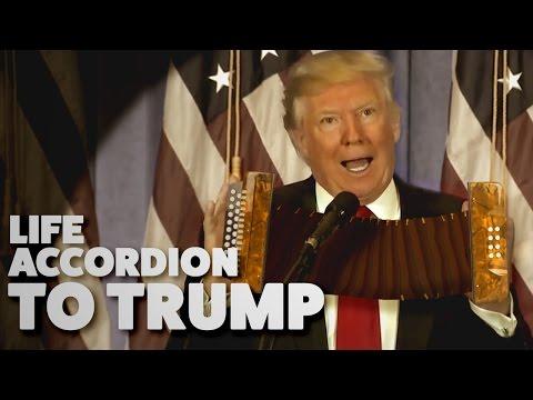 Трамп «сыграл» на гармошке