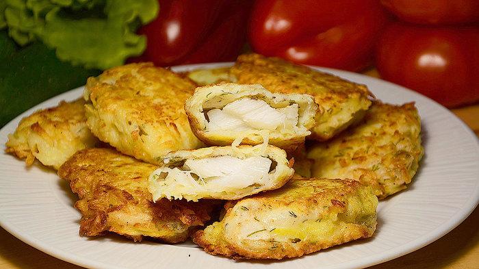 Жареная рыба в картофельной стружке Кулинария, Рецепт, Видео рецепт, Видео, Фотография, Рыба, Сковорода, Вкусно, Длиннопост