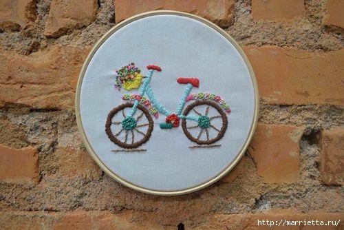 Вышиваем велосипед. Идеи со схемами