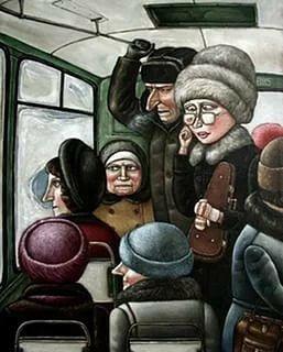 Удивительный диалог в переполненном утреннем автобусе. Такое не часто услышишь...