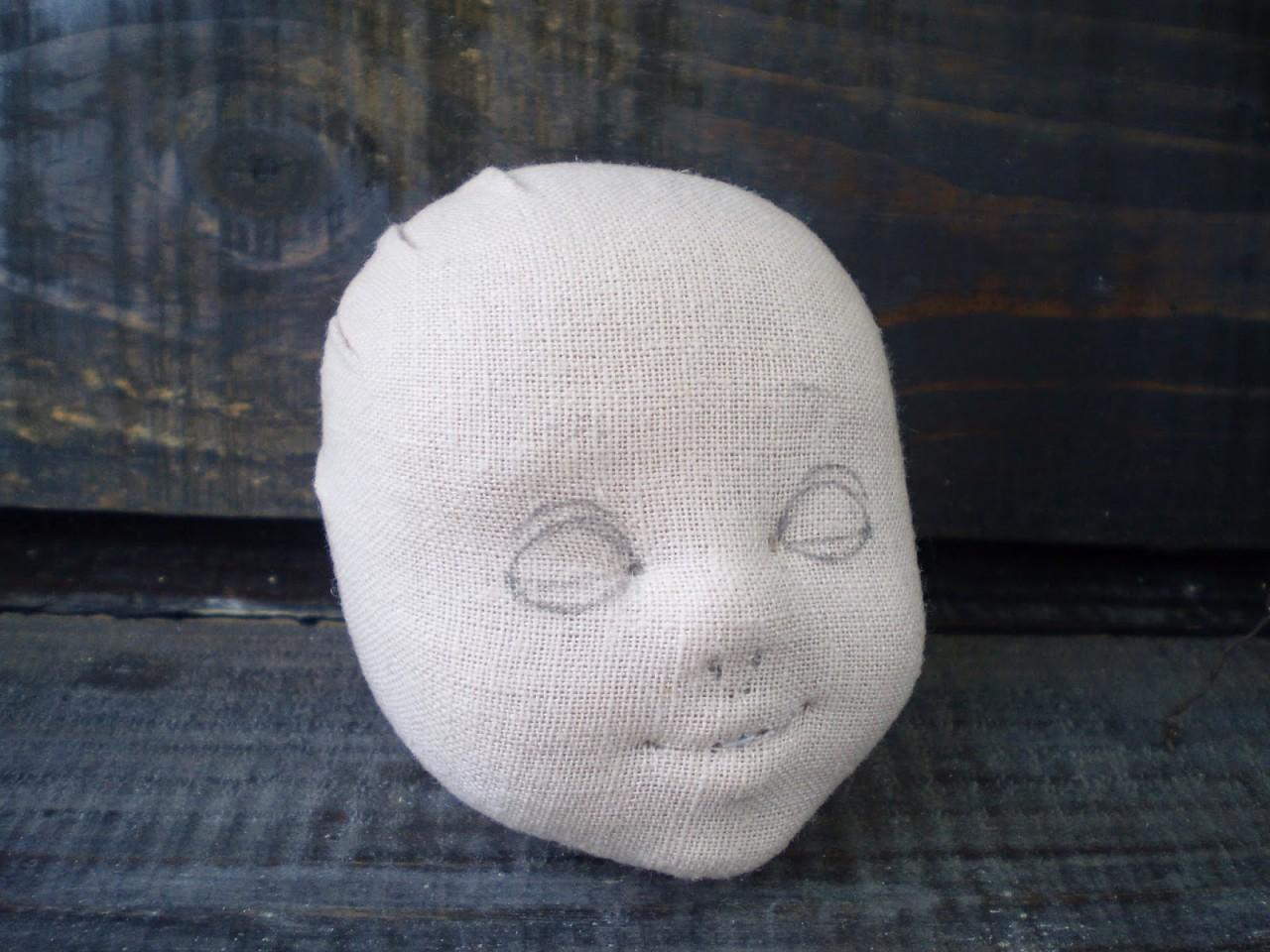 Голова куклы из ткани