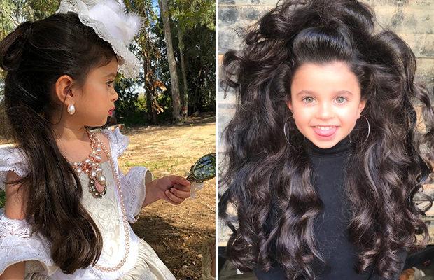 5-летняя малышка покоряет всех своими роскошными волосами