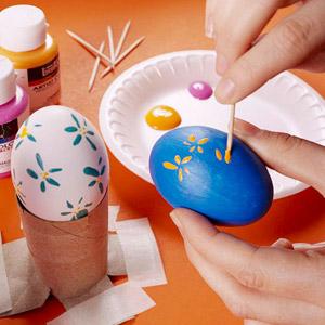 Простые спокобы декора яиц