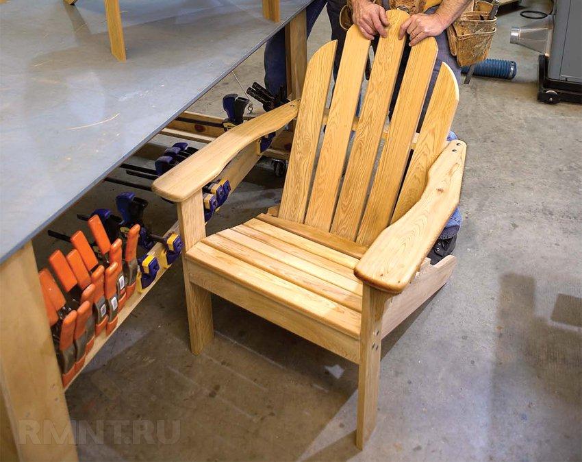 Изготовление садового кресла