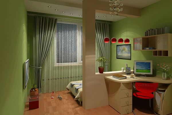 зонирование детской комнаты фото