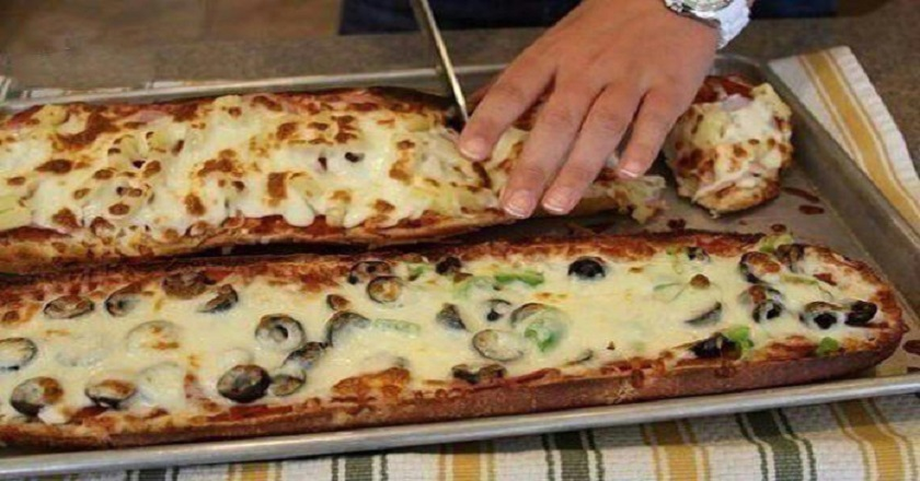 Пицца из багета