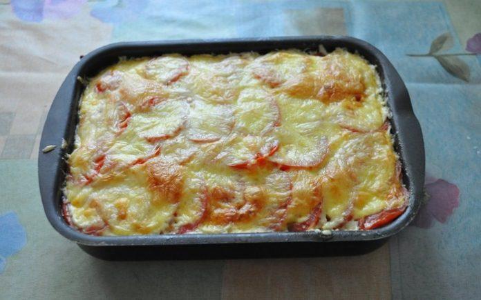 Запеканка из кабачков с фаршем и аппетитной сырной корочкой!