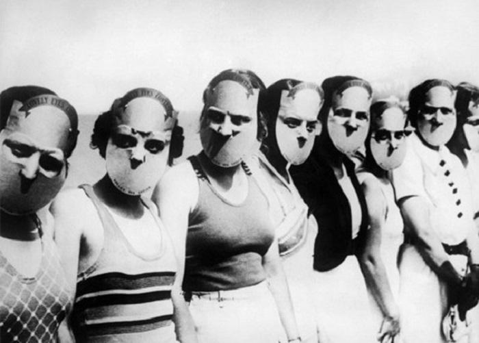 Участницы конкурса Мисс прекрасные глаза. США, Флорида, 1930 ГОД.