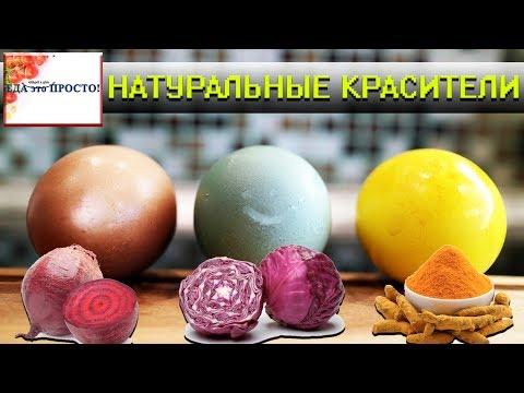 Природные красители для покраски яиц на пасху