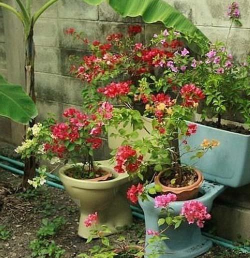 креативная клумба на даче для цветов