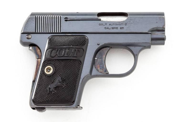 Пистолет карманный Кольт Модель 1908 года калибра .25 ACP (Colt Model 1908 Vest Pocket Hammerless .25 ACP)