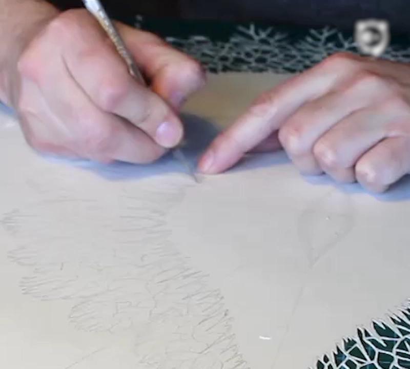 Complex Organic Paper Art By Rogan Brown