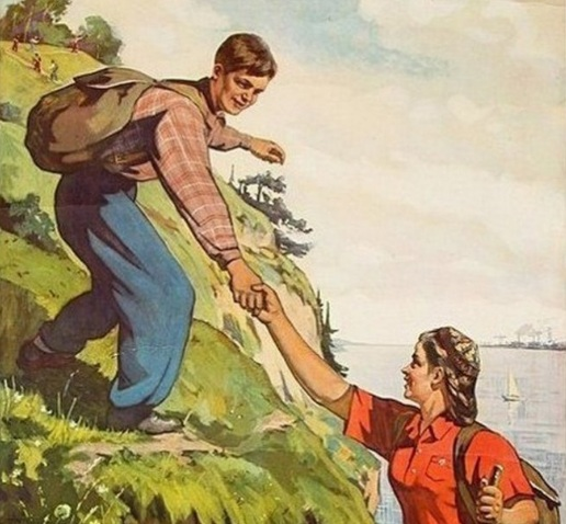 Назад в СССР: советская женщина в турпоходе