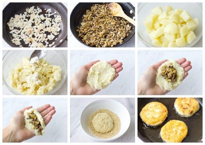 Картофельные зразы с грибами: пошаговые рецепты приготовления