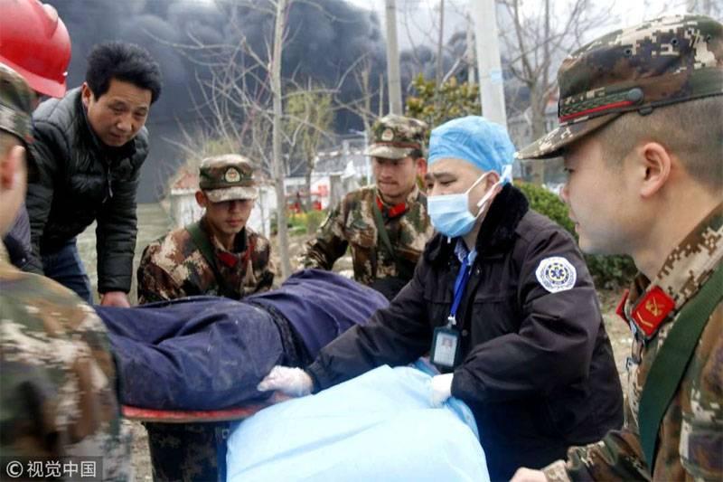 Число жертв взрыва на химзаводе в Китае выросло до 47