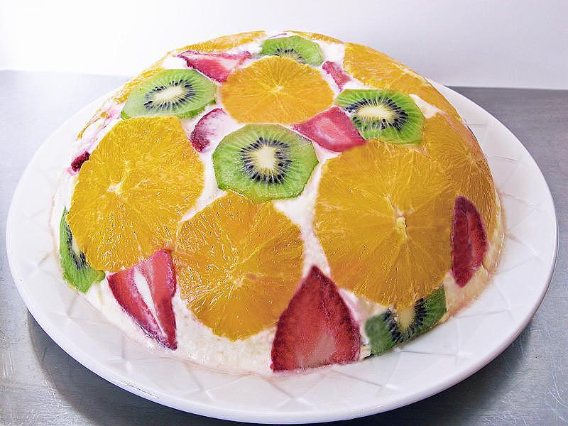 Творожный торт с фруктами без выпечки рецепт пошагово