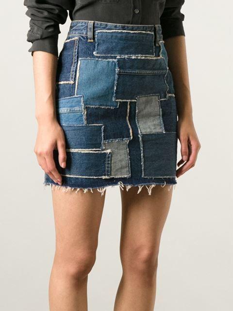 Креативная юбка Saint Laurent