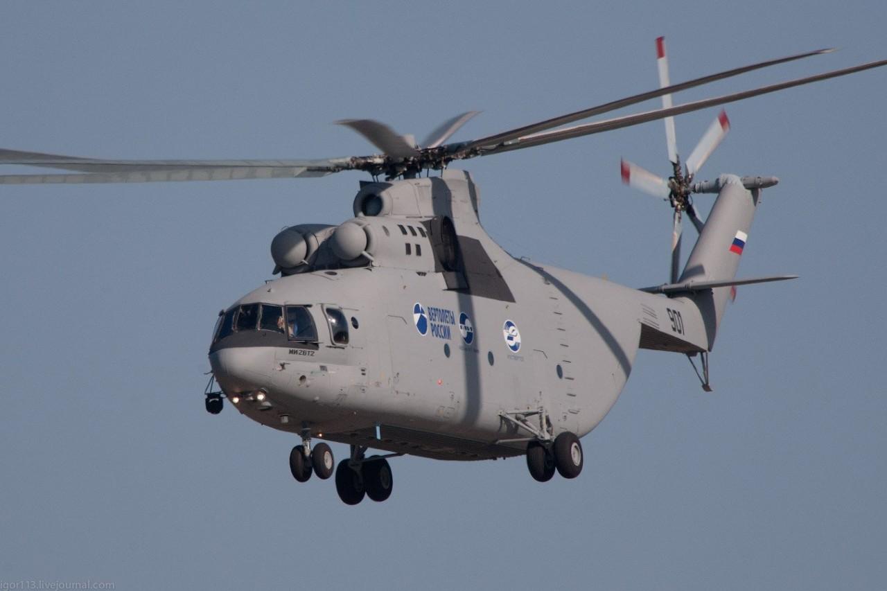 Вертолёт-гигант в небе: Ми-26Т2 В подготовлен к госиспытаниям