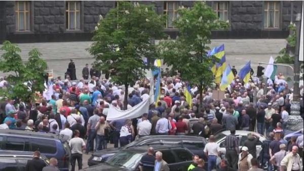 Ветераны МВД Украины уздания правительства вКиеве: Власть унас гнилая