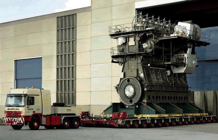 Как устроен поршневой двигатель высотой с четырехэтажный дом