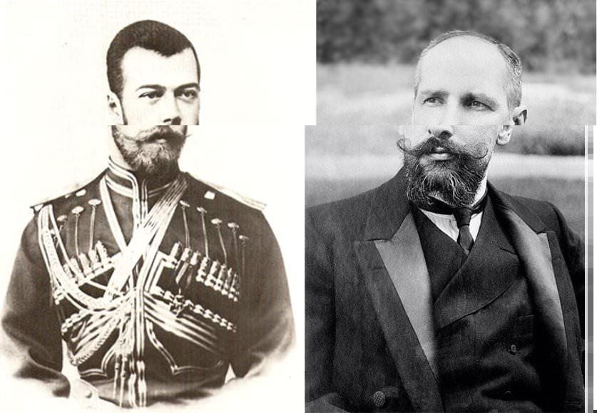 Николай II и Столыпин.