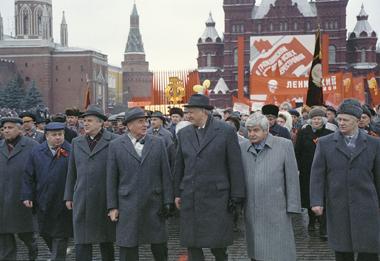 Николай Рыжков, Михаил Горбачёв, Борис Ельцин, Гавриил Попов на праздничной манифестации. 1990 год. Фото ИТАР-ТАСС
