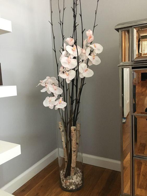 Как декорировать своими руками напольную вазу 18