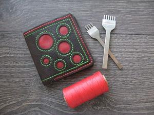 Изготавливаем кожаный кошелек | Ярмарка Мастеров - ручная работа, handmade