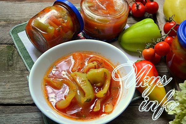 Лечо из болгарского перца с томатным соком