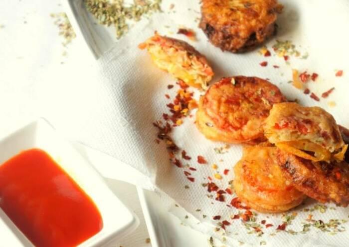 Закуска из помидоров в сырном кляре.  Фото: cookpad.com.