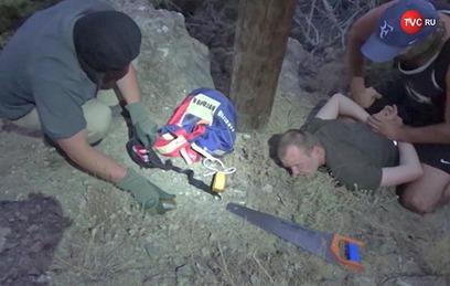Опубликовано видео задержания агента СБУ в Крыму