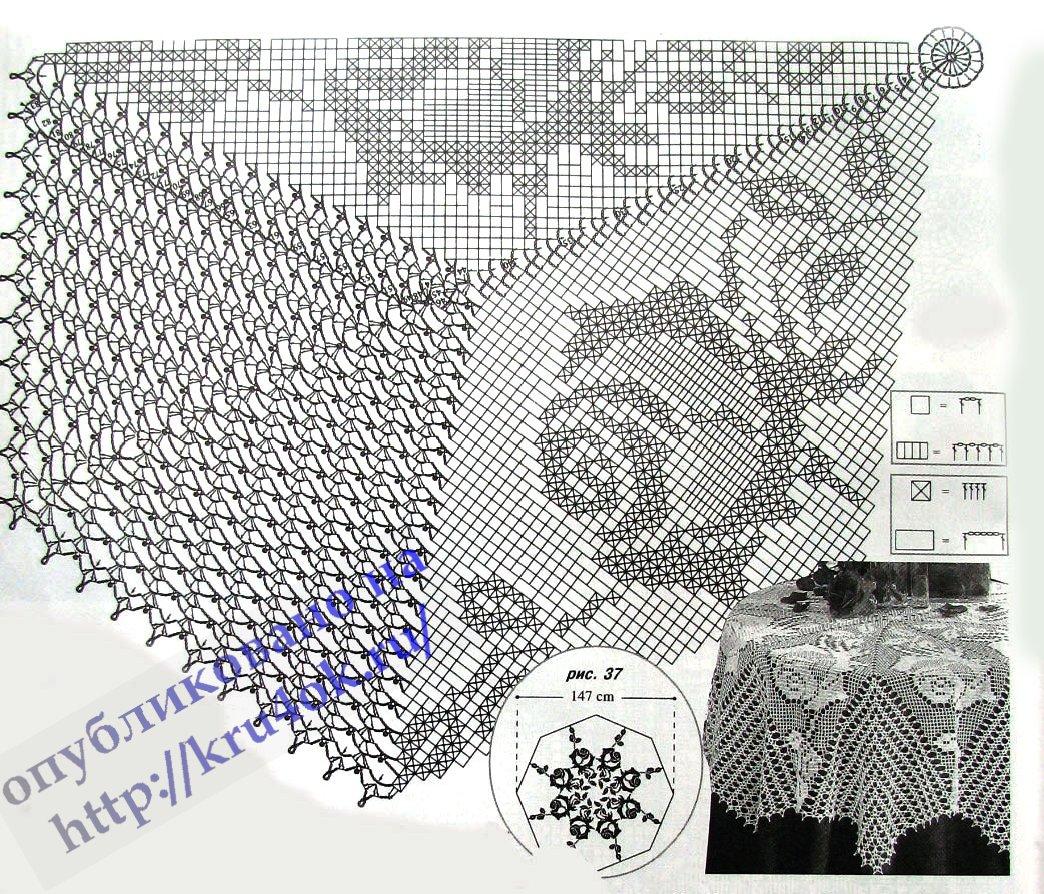 Схемы ажурных салфеток - kru4ok.ru