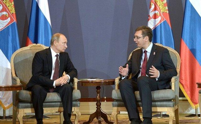 Вучич отметил вклад Путина в развитие российско-сербских отношений