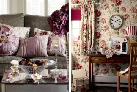 Прекрасные классические интерьеры с цветочными принтами — 2 примера для вдохновения