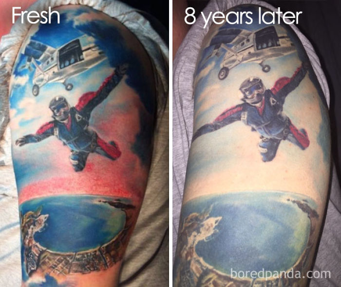 Thinking Of Getting A Tattoo? These 10+ Pics Reveal How Tattoos Age Over Time