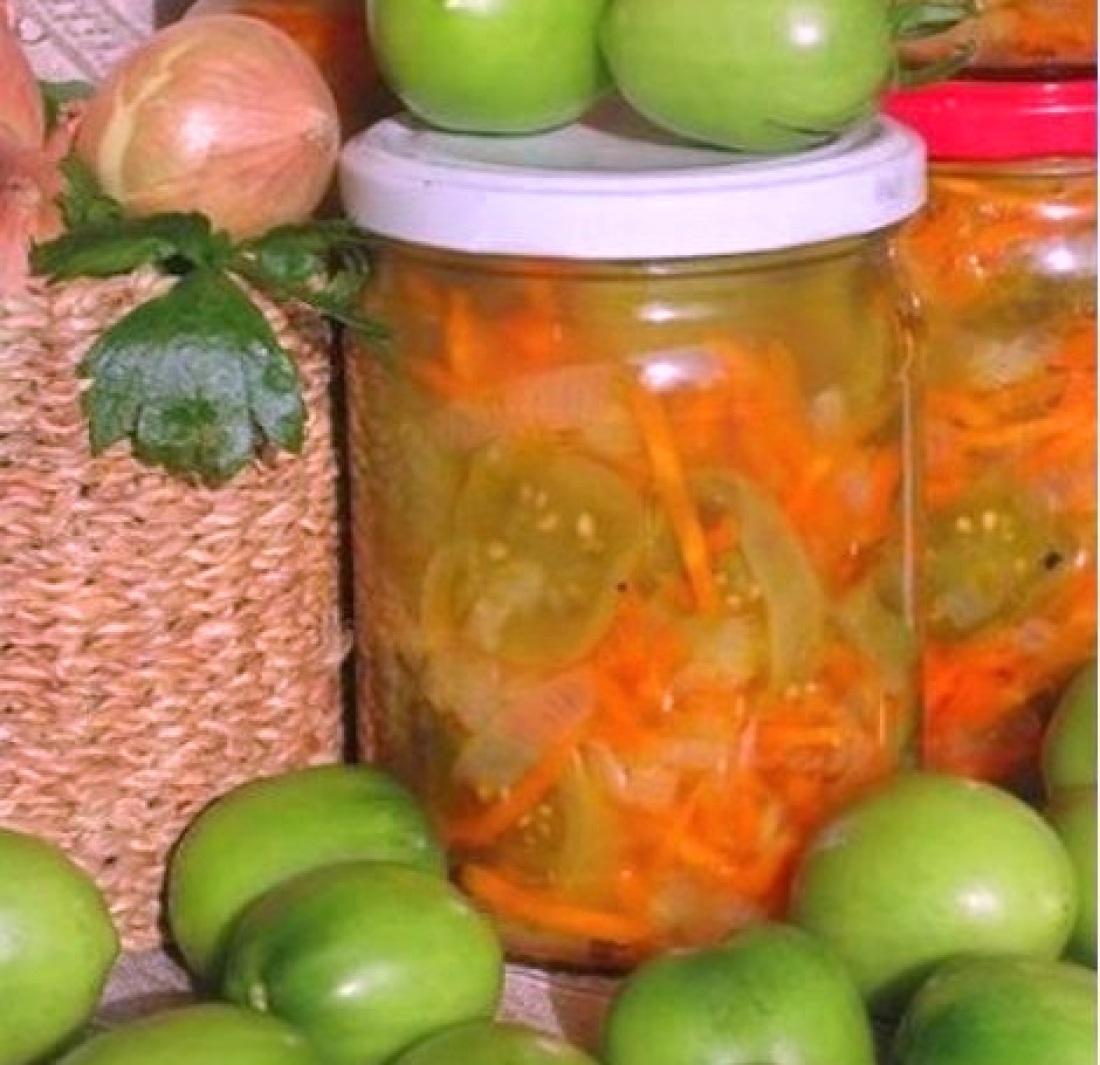 Консервируем салат из зеленых помидор