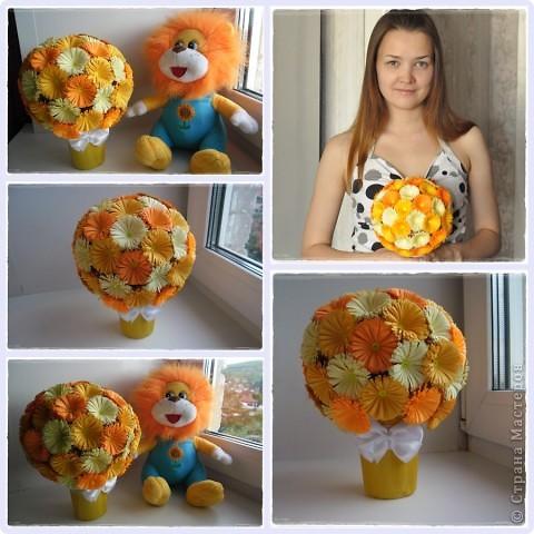 Мастер-класс Поделка изделие Квиллинг Мои цветочные шары и маленький МК запись пополняется Бумага фото 9