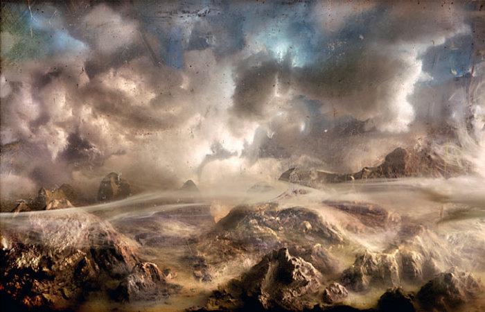 Пустынный пейзаж. Автор: Kim Keever.