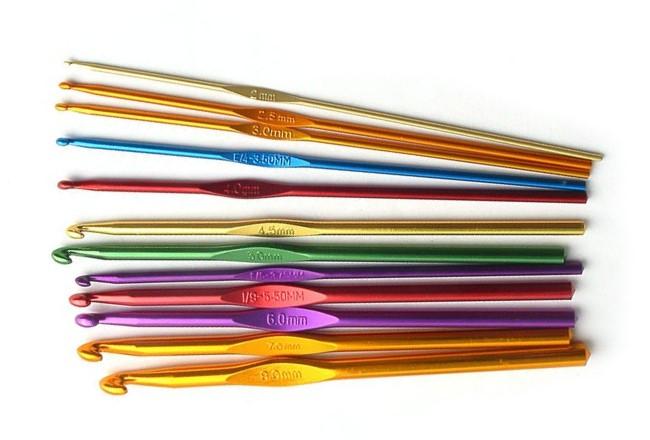 Размеры крючков для вязания