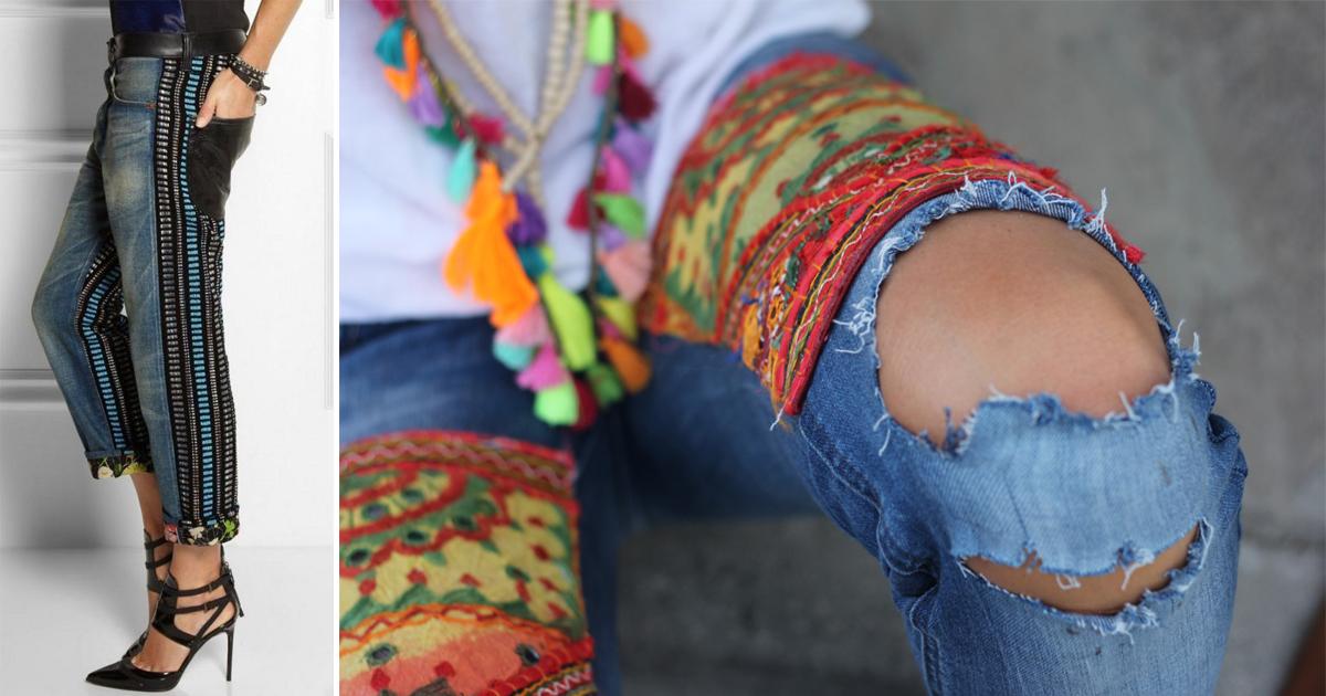 Бохо джинсы. 20 Отличных идей