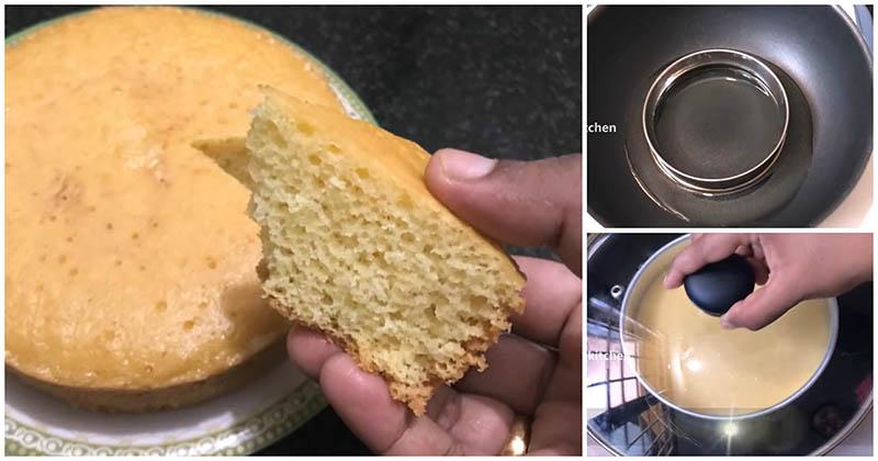 Необычный способ приготовления пышного бисквита без духовки