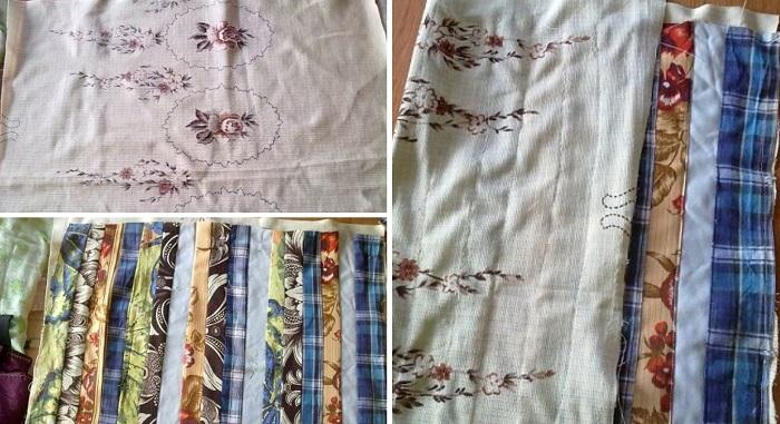 как сшить половик из старой ткани