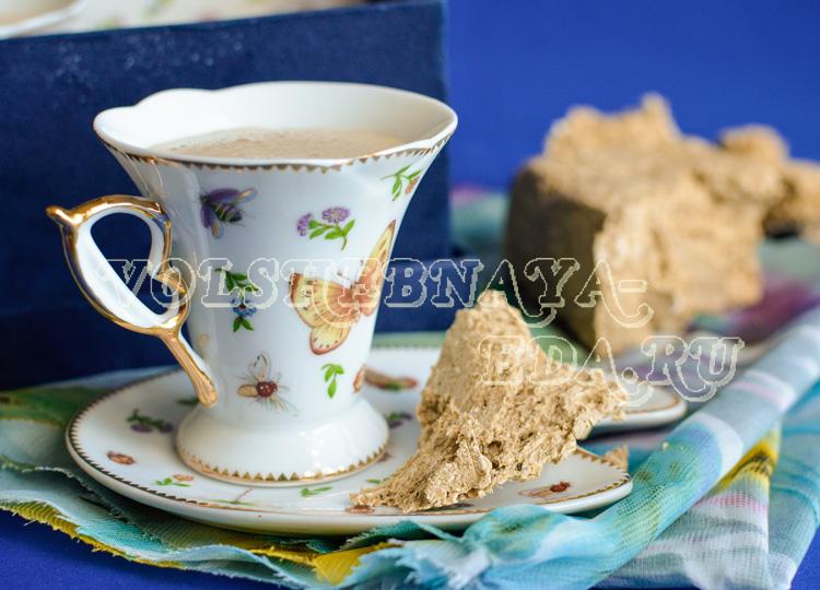 Кофе с халвой рецепт с фото