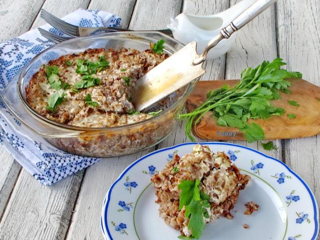Гречневая запеканка с мясом по-польски