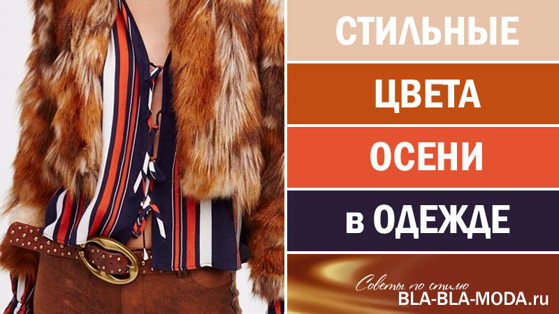 Стильные цвета осени в одежде