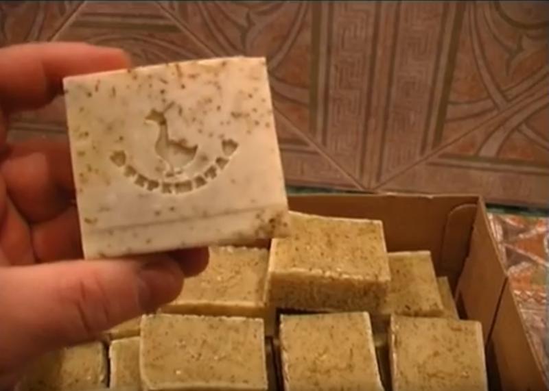 Прошли сутки. лечебное мыло, мыло, мыло из гусиного жира, мыло натуральное, мыло с чабрецом, своими руками, супер мыло