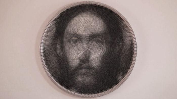 Artist Uses A SINGLE Thread To Recreate Renaissance Painting