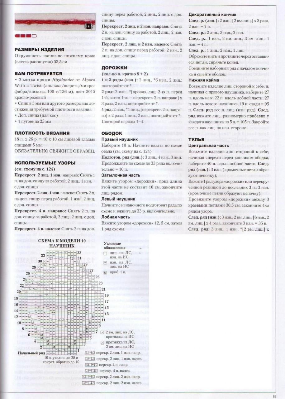 Схема вязания крючком шлема 38