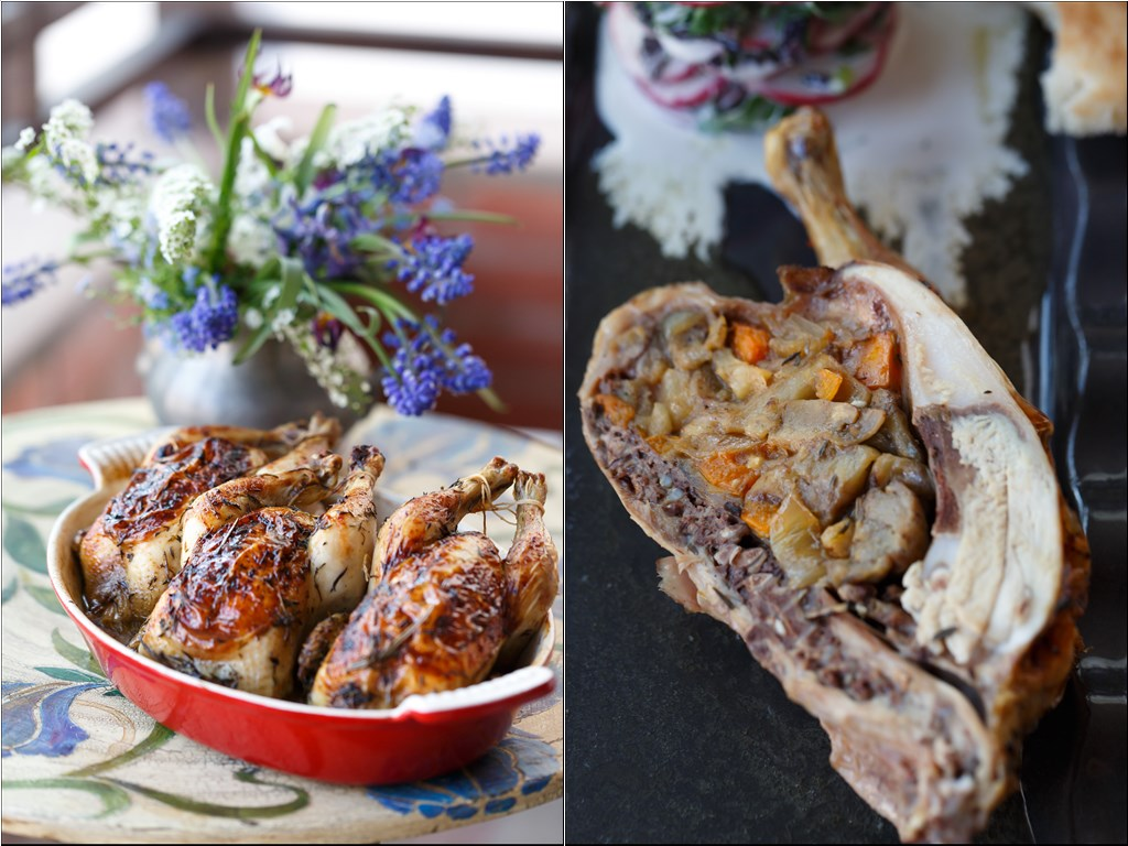 Цыплята — корнишоны фаршированные карамелизованными овощами